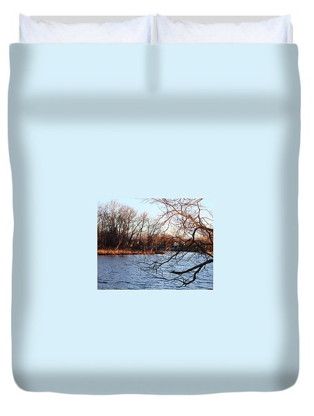 Branches Over Water Duvet Cover