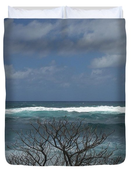 Branches Waves And Sky Duvet Cover