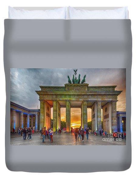Brandenburg Gate Duvet Cover by Pravine Chester