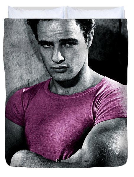Brando In Pink Duvet Cover