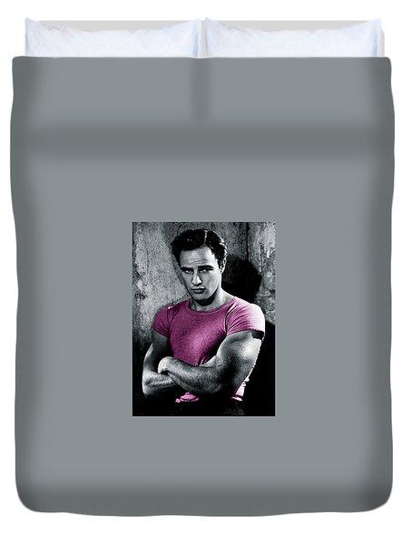 Brando In Pink Duvet Cover