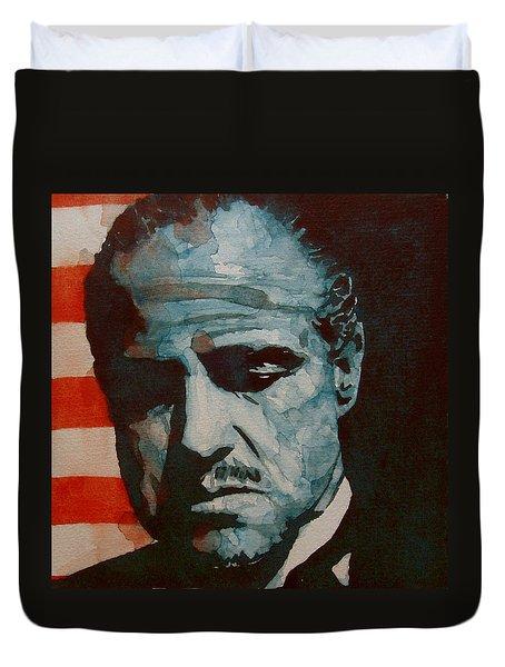 The Godfather-brando Duvet Cover