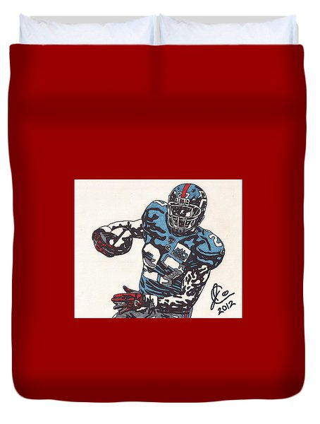 Brandon Jacobs 1 Duvet Cover by Jeremiah Colley