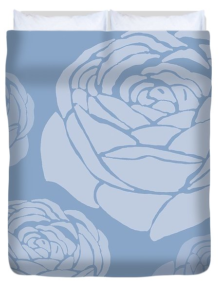 Brandon Rose Duvet Cover by Sarah Hough