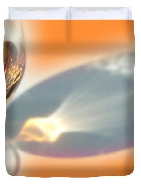 Brandy Glass Reflection Duvet Cover
