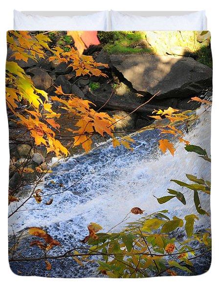 D30a-18 Brandywine Falls Photo Duvet Cover