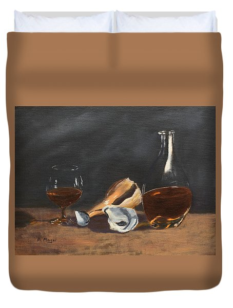 Brandy With Shells Duvet Cover