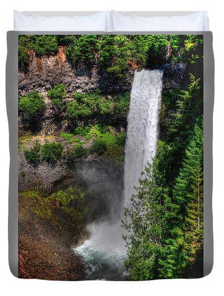 Duvet Cover featuring the photograph Brandywine Falls by Myrna Bradshaw