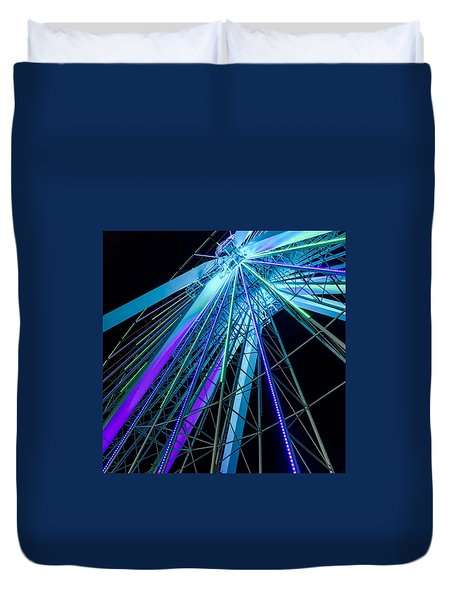 Branson Nightlife Up Close Duvet Cover