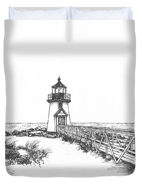 Brant Point Lighthouse Duvet Cover