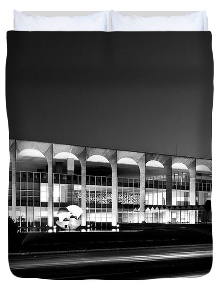 Brasilia - Itamaraty Palace - Black And White Duvet Cover