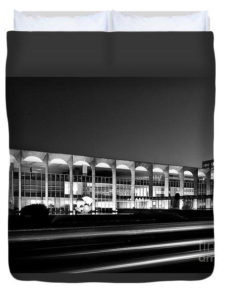 Brasilia - Itamaraty Palace - Black And White Duvet Cover