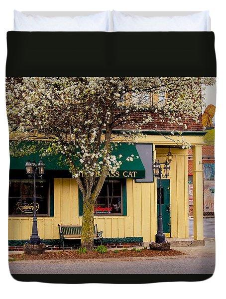 Brass Cat Pub Easthampton Duvet Cover