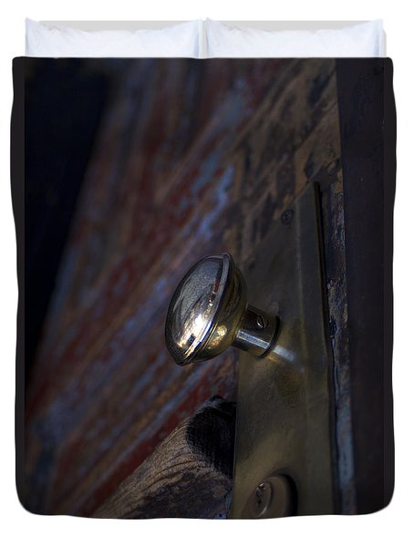 Brass Door Knob I Duvet Cover