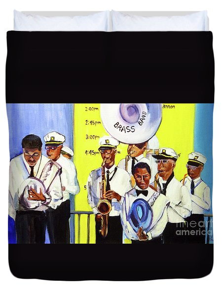 Brass Of  Class New Orleans Duvet Cover by Ecinja Art Works