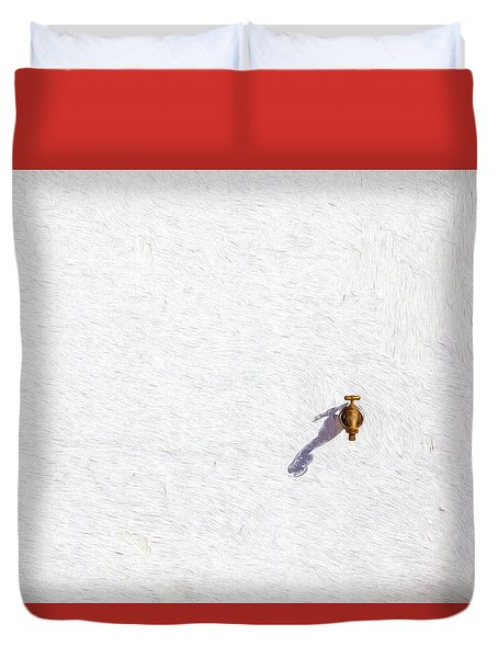 Brass Water Spicket Duvet Cover