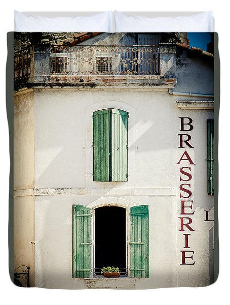 Duvet Cover featuring the photograph Brasserie by Jason Smith