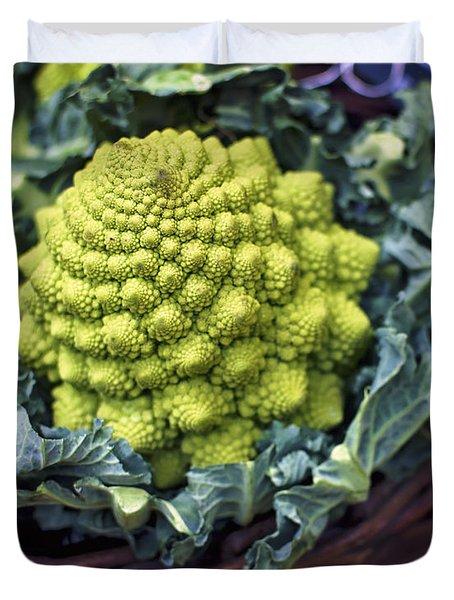 Brassica Oleracea Duvet Cover by Heather Applegate