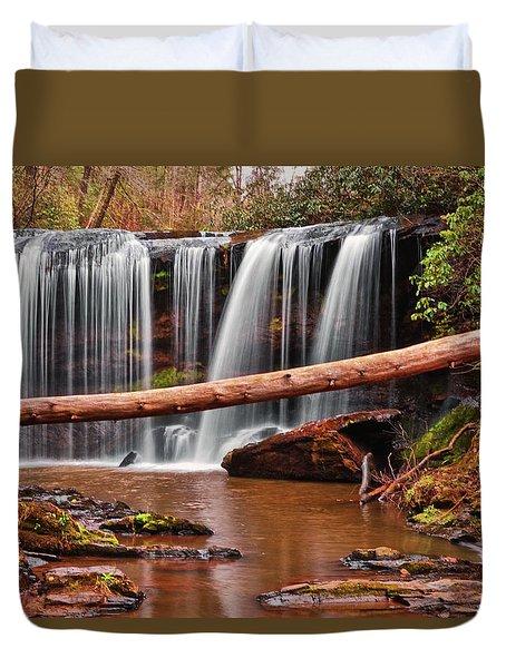 Brasstown Falls 002 Duvet Cover