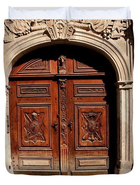 Bratislava Doors Duvet Cover