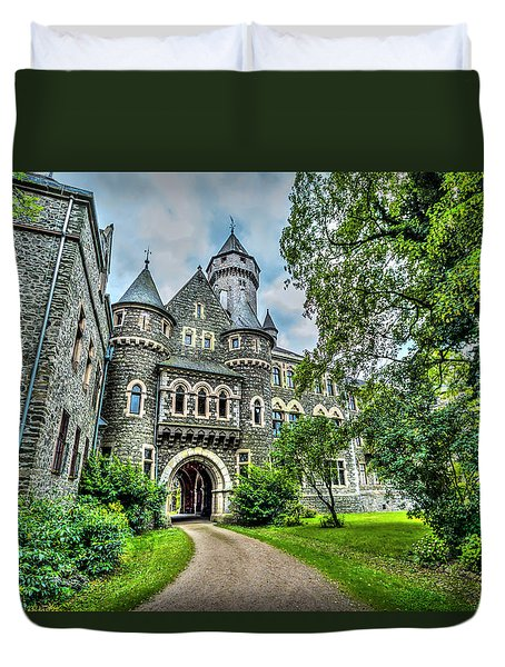 Duvet Cover featuring the photograph Braunfels Castle by David Morefield