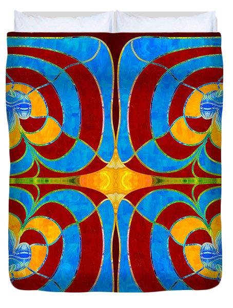 Bravely Going Abstract Bliss Art By Omashte Duvet Cover
