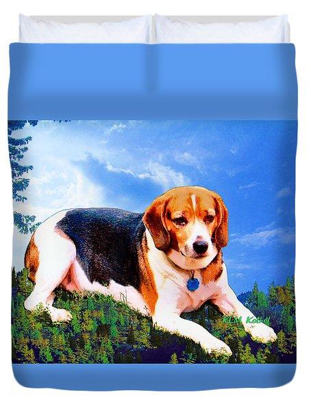 Bravo The Beagle Duvet Cover