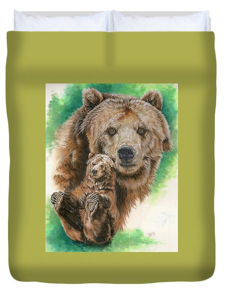Duvet Cover featuring the painting Brawny by Barbara Keith