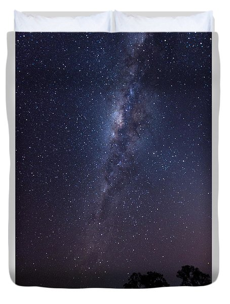 Duvet Cover featuring the photograph Brazil By Starlight by Alex Lapidus