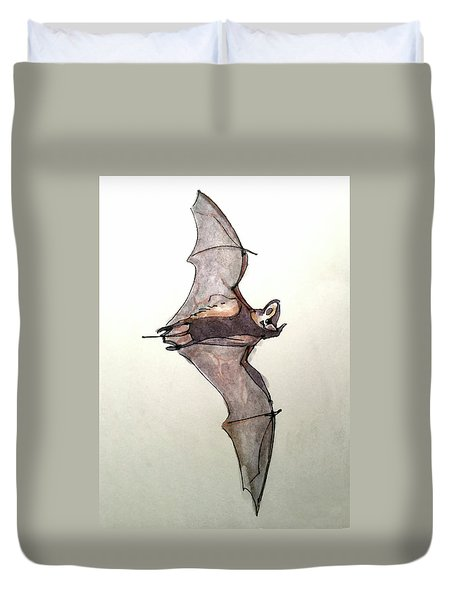 Brazilian Free-tailed Bat Duvet Cover