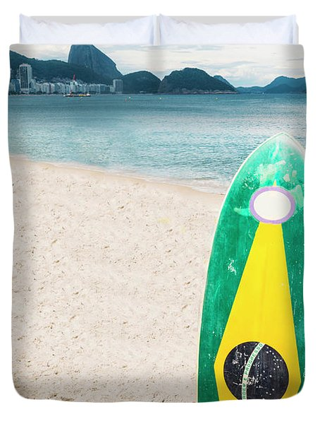 Brazilian Standup Paddle Duvet Cover