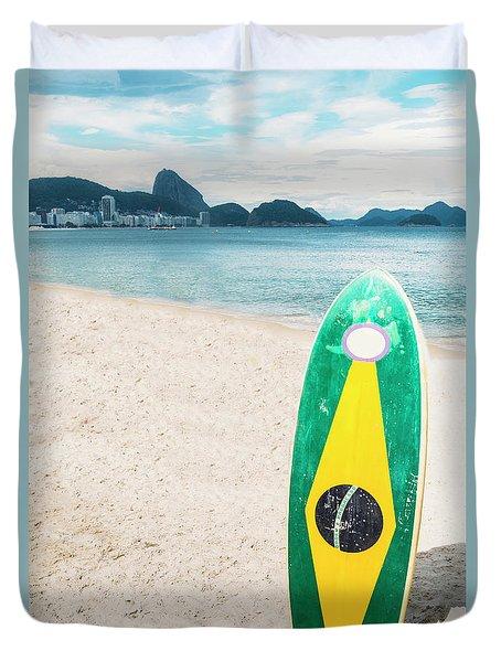 Brazilian Standup Paddle Duvet Cover