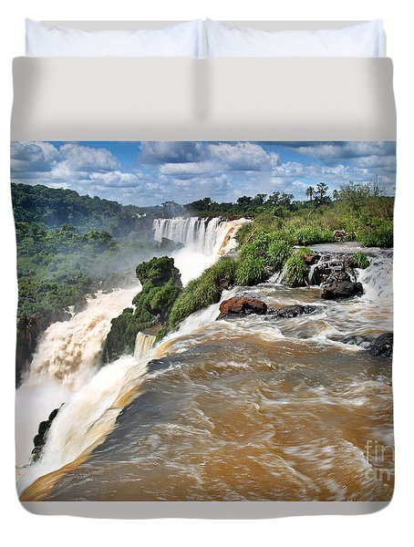 Duvet Cover featuring the photograph Brazil,iguazu Falls, by Juergen Held