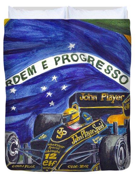 Brazil's Ayrton Senna Duvet Cover