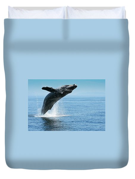 Breaching Humpback Whale Duvet Cover