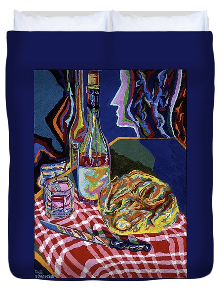 Bread And Wine Of Life Duvet Cover