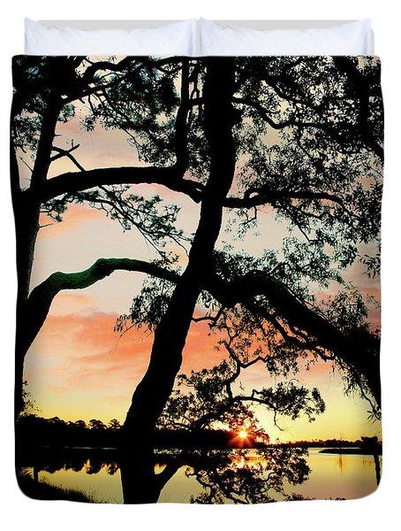 Break Of Dawn Duvet Cover by Tim Fitzharris