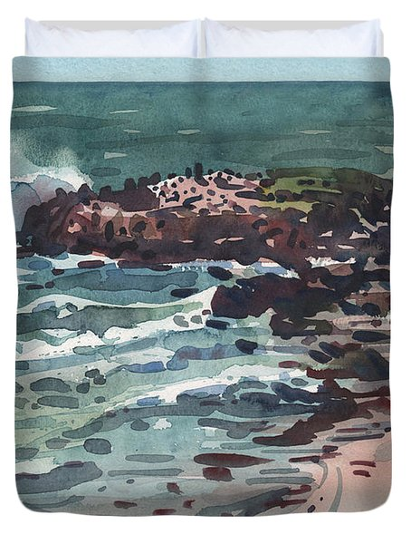 Duvet Cover featuring the painting Breakers by Donald Maier