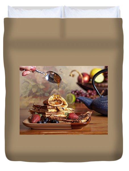 Breakfast Duvet Cover by Anna Rumiantseva