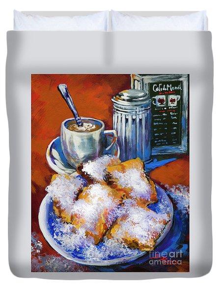 Breakfast At Cafe Du Monde Duvet Cover