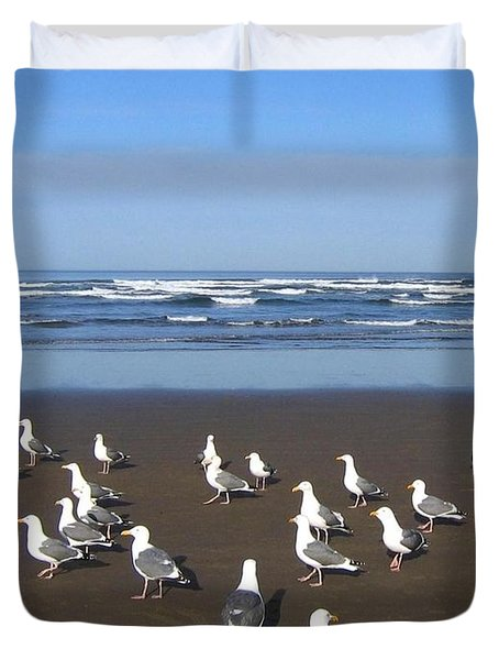 Breakfast At Cannon Beach Duvet Cover by Will Borden