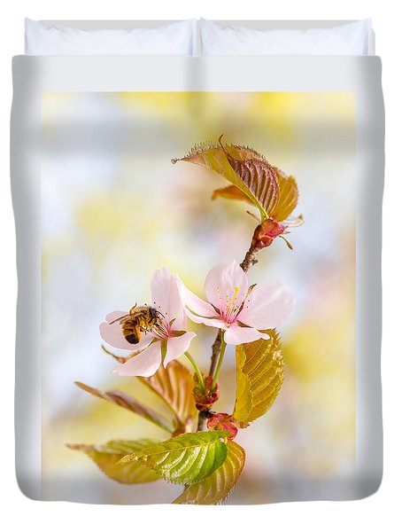 Breakfast At Sakura Duvet Cover