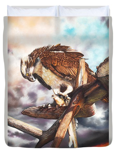 Breakfast In America Duvet Cover