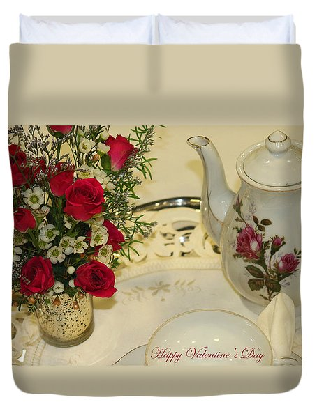 Duvet Cover featuring the photograph Breakfast In Bed by Living Color Photography Lorraine Lynch