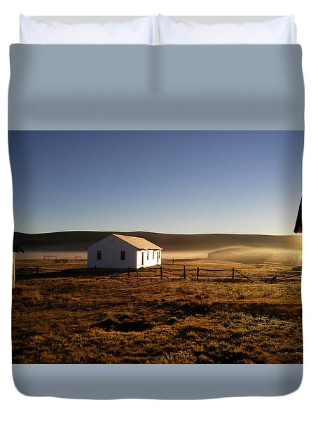 Breakfast In The Air Duvet Cover