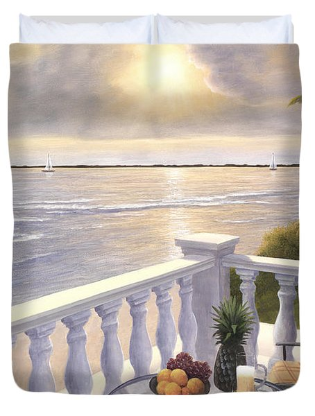 Breakfast On The Veranda Duvet Cover