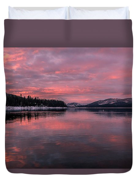 Breakfast Served Pink Duvet Cover by Jan Davies
