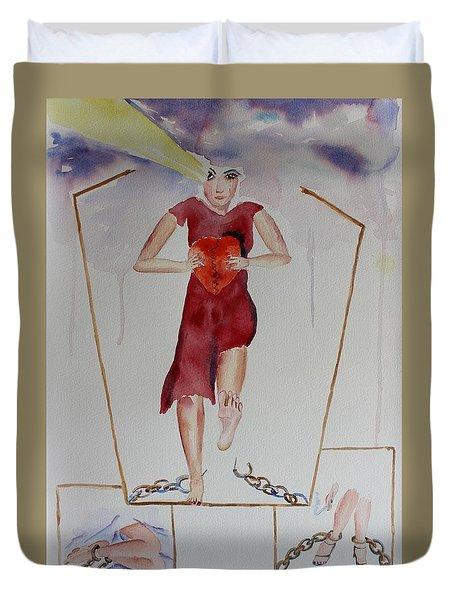 Breaking Free Duvet Cover by Geeta Biswas