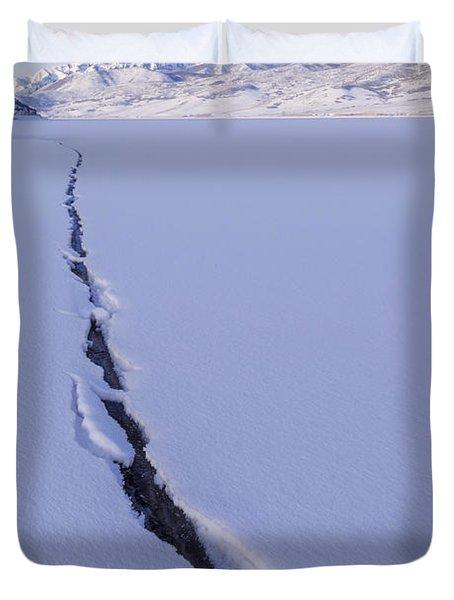 Breaking Ice Duvet Cover