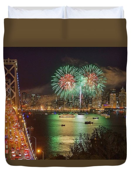 Breaking Rules On New Year's Eve Duvet Cover